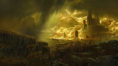 ArtStation - Sulfur Plains, Elijah McNeal - In the future of Shattered Worlds many of the planets and moons inhabited by people have dangerous atmospheric conditions such as acid rain etc. Landscape Concept, Fantasy Landscape, Environment Concept Art, Environment Design, Fantasy Illustration, Landscape Illustration, Jaime Jones, Render Image, Planets And Moons