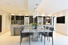 Diane Berry of Diane Berry Kitchens shares advice on how to design a perfectly toned grey kitchen through this stunning real home Grey Interiors, Best Appliances, Grey Kitchens, Evening Meals, Kitchen Inspiration, Soft Furnishings, Timeless Design, Dining Area