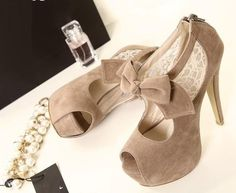 Bowknot Platform Peep Toe High Heels #peep-toe http://fashionpolitan.com