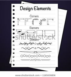 Find Notebook Design Elements stock images in HD and millions of other royalty-free stock photos, illustrations and vectors in the Shutterstock collection. Notebook Design, Design Elements, Royalty Free Stock Photos, Bullet Journal, Elements Of Design