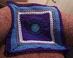 Ravelry: Project Gallery for Stitch Sampler pattern by Jean Holzman.. blues and purples..