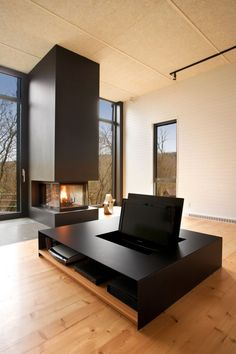 Hidden TV - Contemporary Country House