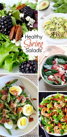 Healthy Spring Salads | Get the recipes | Bright Bold and Beautiful