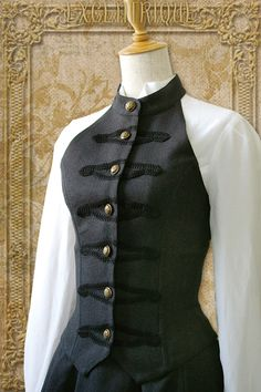 Byron Corset Vest by Excentrique Steampunk Mode, Steampunk Fashion, Victorian Fashion, Gothic Fashion, Urban Fashion, Fashion Trends 2018, Fashion 2016, Winter Fashion, Mode Harajuku