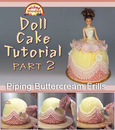 Wicked Goodies | Doll Cake Buttercream Piping | http://www.wickedgoodies.net