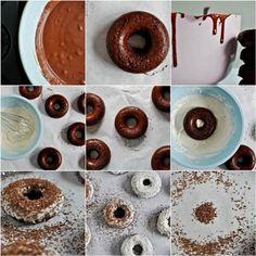 Baked Red Velvet Cake Doughnuts