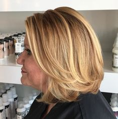 Long Layered Bob Caramel blonde is one of the best hair colors for a longer bob with face-framing layers. The fresh color will brighten up your complexion and eyes, if you have blue, gray… Haircuts For Long Hair, Short Hairstyles For Women, Bob Hairstyles, Short Hair Cuts, Latest Hairstyles, 60 Year Old Hairstyles, Round Face Haircuts, Pretty Hairstyles, Medium Hair Styles