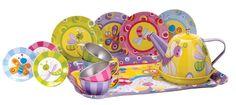 Amazon.com: Schylling Summer Bugs Tin Tea Set: Toys & Games