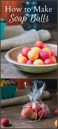 Learn how to make soap balls that you can easily color and scent to your preference. This super affordable crafts make a great handmade gift.