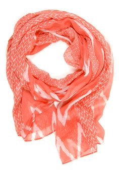Peaks & Valleys Scarf: Coral - $14.99 : Spotted Moth, Chic and sweet clothing and accessories for women