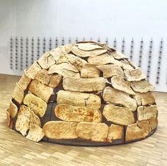 "[Arts & Foods] Mario Merz ""Igloo del pane"" 1989 #artsfoods #triennalemilano…"