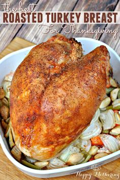 turkey recipes Are you looking for the best roasted turkey breast recipe to serve on Thanksgiving This recipe is super easy to make and it tastes amazing too! Turkey Breast Recipe Oven, Roast Turkey Breast, Turkey Breast With Stuffing Recipe, Air Fryer Recipes Turkey Breast, Best Roasted Turkey, Baked Turkey, Drumstick Recipes Oven, Cooking Turkey, How To Cook Turkey