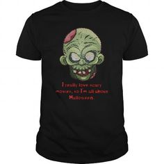 A great gift for your loved ones on Halloween 2017:  i really love scary movie so im about halloween T-Shirt