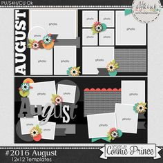#2016 August - Template Pack (CU Ok) by Connie Prince. Includes 4 12x12 templates or 2 12x24 templates. Templates are saved as layered PSD & TIF files as well as individual PNG files. Also, includes layered .page files for use with SBC+3, SBC 4 & Panstoria Artisan software. Scrap for hire / others ok. Commercial Use Ok, NO credit required.