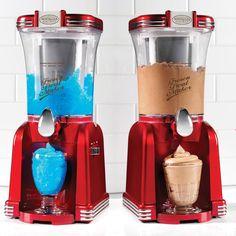 Smart Retro Slush Machine and Best Ice Cream Maker Cool Kitchen Gadgets, Small Kitchen Appliances, Cool Gadgets, Cool Kitchens, Kitchen Supplies, Kitchen Items, Kitchen Decor, Frozen Drinks, Ice Cream Maker