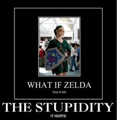 Seriously... Zelda is the Princess... Link is the guy!