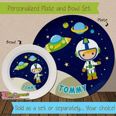 Personalized Unicorn Plate and Bowl Set - Personalized Plastic Children Plate and Cereal Bowl - Kids Dishes Mealtime - Unicorn Plate Set | Kids dishes ... & Personalized Unicorn Plate and Bowl Set - Personalized Plastic ...