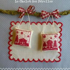 Cross Stitch - Houses & Trees Freebie