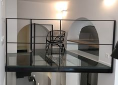 SOLS VERRE | Trescalini Glass Floor, Stairs, Flooring, Home Decor, Glass Ceiling, Ceilings, Crystals, Wooden Beam, Steel