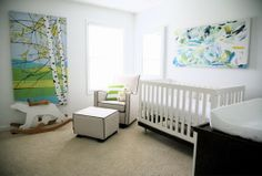 I love it when baby rooms don't look too babyish. media-cache2.pint... coryjoe86 baby stuff