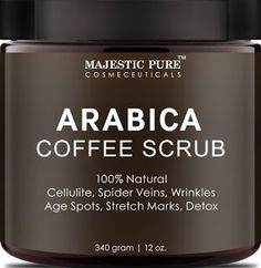Beauty, Health and Everything Else: Arabica Coffee Scrub Skin Care From Majestic Pure