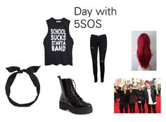 Day with my favorite rockband by adelaideowusu123 on Polyvore featuring Frame Denim, Jeffrey Campbell, yunotme and Punk