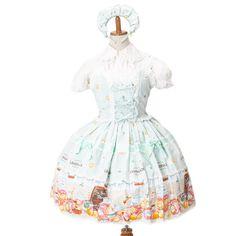 ピンクレモネードジャンパースカート カチューシャ・靴下付|ゴスロリ・ロリータファッション服の通販はワンダーウェルト
