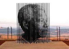 Arte em homenagem a Mandela.