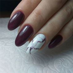 🍷 Have You Tried these 70+ Elegant Chic Classy Nails Design Art Loved By Both Saint & Sinner? Do you know Burgundy Colors represent Ambition,Wealth,Power & Fearless Love? #NotStayingBlueToday #BurgundyColors 🌶️ best nail polish colors nuteral nails snowflack nails cute haloween nails shellac fall nails solid nail snowflake nails autum nails at home acrylic nails plain nails sheer nails sprung nails disney nails neud nails september nails color ballerina nails Deep Red Nails, Maroon Nails, Burgundy Nails, Burgundy Color, Marble Nail Designs, Marble Nail Art, Nail Art Designs, Classy Nail Designs, Nails Design