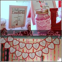 Becoming Martha: Lovebirds Valentine's Day Party