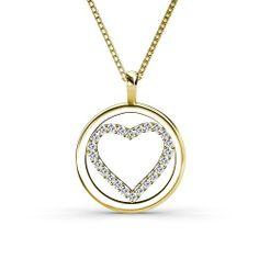 Aurella - 0.25CT Round Cut Diamond Heart Pendant - Yellow Gold, £490.00 (http://www.aurella.co/0-25ct-round-cut-diamond-heart-pendant-yellow-gold/)