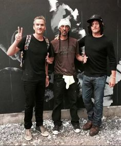 Norman Reedus, Balthazar Getty, and artist Futura in NYC.