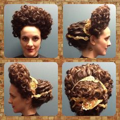 Recreation of an Ancient Roman hairstyle from the Flavian period