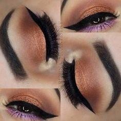 Purple Bronze Eye Makeup Look for Summer