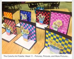 The Colorful Art Palette: Week 11 – Pictures, Pictures, and More Pictures… Die bunte Kunstpalette: Woche 11 – Bilder, Bilder und mehr Bilder … Middle School Art, Art School, High School, Art 2nd Grade, Classe D'art, Creation Art, Van Gogh Art, School Art Projects, Spring Art