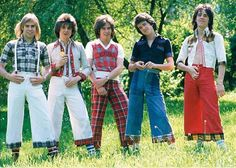 """The Bay City Rollers Loved flares? You must have LOVED The Bay City Rollers. Altogether now: """"Bye bye, baby, baby bye bye. Bay City Rollers, 1970s Childhood, Childhood Memories, Nice Memories, Back In My Day, Rockn Roll, Teenage Years, Glam Rock, The Good Old Days"""