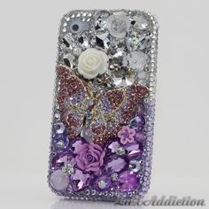 """Style 375 This Bling case can be handcrafted for iPhone 4/4S, 5, 5S, and 5C. The current price is $79.95 (Enter discount code: """"facebook102"""" for an additional 10% off during checkout) *Click image for direct link"""