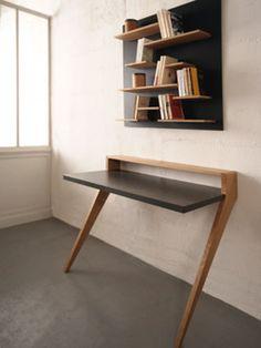 Furniture Makeover - New ideas Smart Furniture, Home Office Furniture, Table Furniture, Furniture Makeover, Modern Furniture, Furniture Design, Home Office Design, Home Office Decor, Study Room Decor