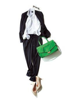 ファッション/【コーディネート3】|アラフォーのためのファッション&ライフスタイル誌「Marisol(マリソル)」公式サイト「Marisol Online(マリソル オンライン)」|HAPPY PLUS(ハピプラ) College Fashion, Office Fashion, Work Fashion, Fashion Pants, Daily Fashion, Work Wardrobe, Capsule Wardrobe, Corporate Fashion, Fashion Capsule