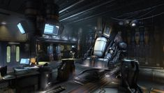 Future, Futuristic, Cyberpunk Atmosphere, Science Fiction, Cryochamber Environment by ~beere on deviantART