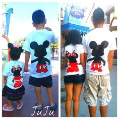 Free Two Day Shipping For US Mickey and Minnie Mouse L.O.V.E. Family of 4 T-Shirts on Etsy, $134.00