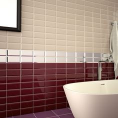 New Metro Plum 100 x 200 Ceramic Wall Tile