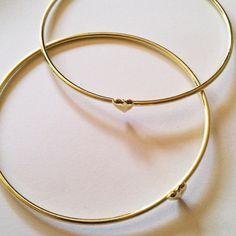 GageHuntley.com Tiny Heart Bangle #simple #bangle #gold #heart #bracelet #tiny #armswag #boho #stack #jewelry #accessories