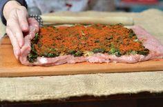 Rolada ze schabu ze szpinakiem - bardzo dobry pomysł na świąteczny lub codzienny obiad oraz na zimno - zdrowa, domowa wędlina do kanapek.