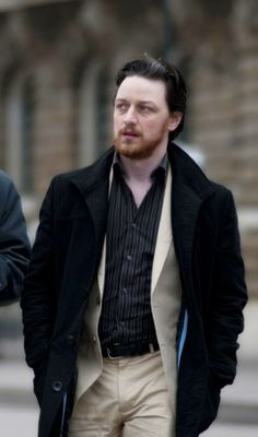 James McAvoy on Filth set