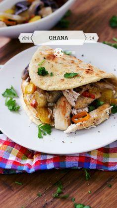 Spicy chicken sandwich from Ghana