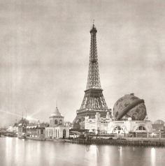 Paris, France- Eiffel Tower, Exposition of Paris Architecture-Antique, Vintage Photograph Print Tour Eiffel, Torre Eiffel Paris, Gustave Eiffel, Paris 1900, Old Paris, Classic Photography, Paris Photography, Old Pictures, Old Photos