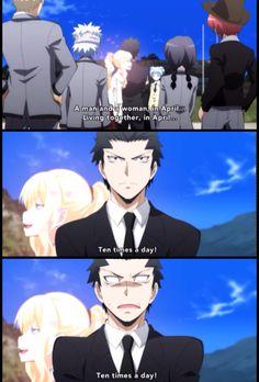 Karasuma reacting to Irinia's fantasies are hilarious!!
