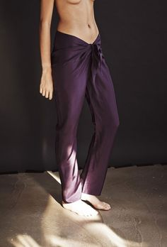 pareo trousers plum