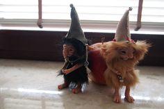 OOAK fantasy art dolls gnomes little trolls GIRLUK and GABRI by Muyestillo